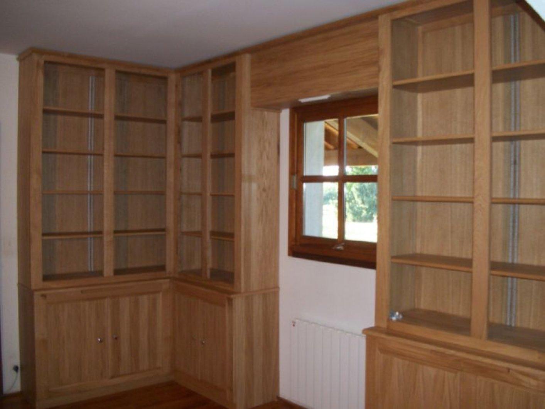 cr ation de biblioth que sur mesure. Black Bedroom Furniture Sets. Home Design Ideas